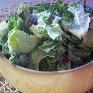 Listový salát s majonézovým dresinkem recept