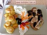 Kuřecí plátky s houbami a hermelínem recept