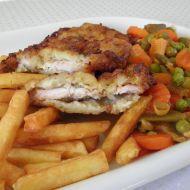 Smažené kuřecí plátky se zeleninou recept