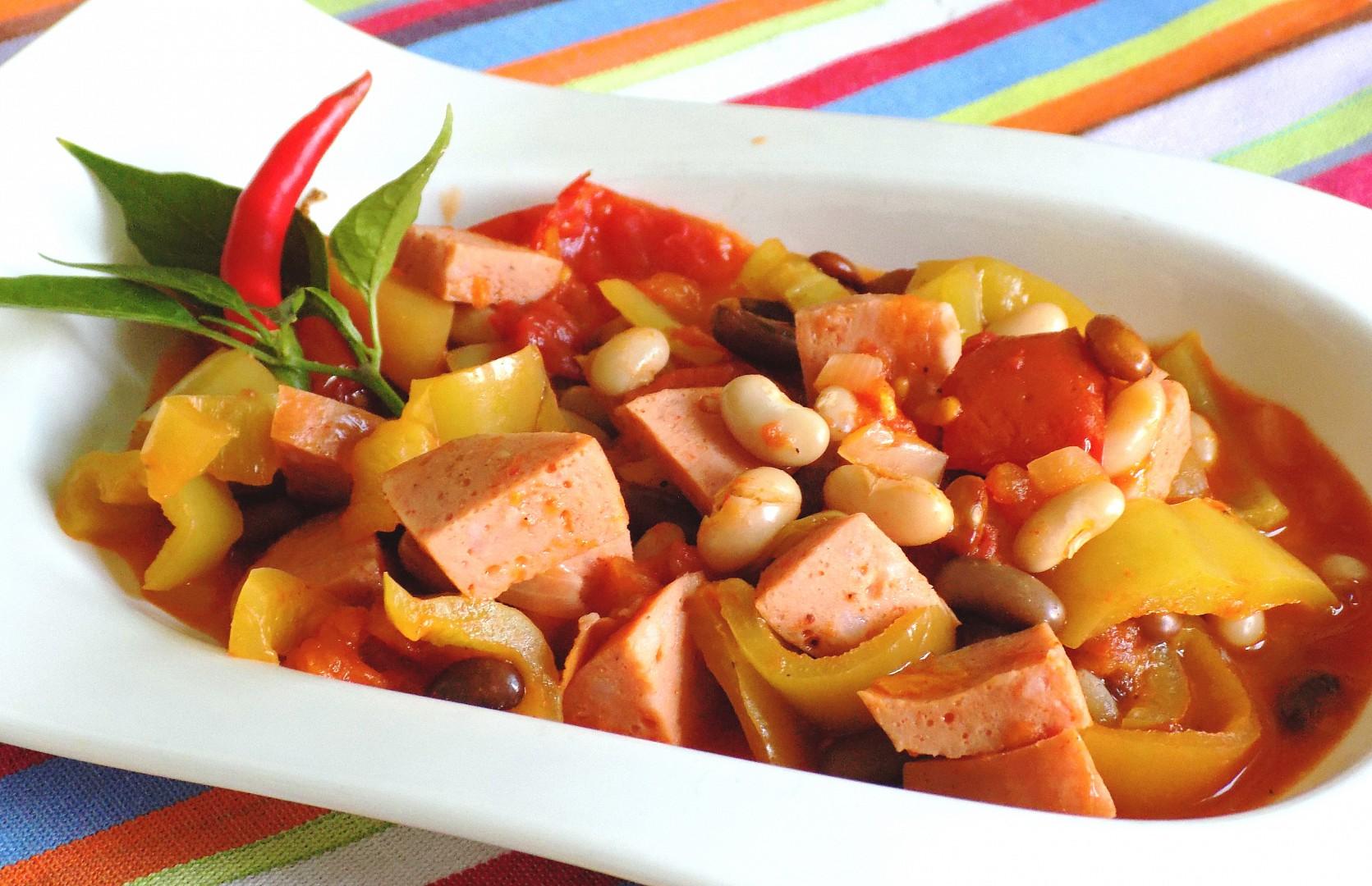 Lečo s fazolí recept