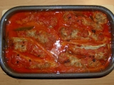 Plněné papriky s omáčkou recept