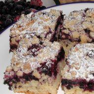 Litý koláč s borůvkami recept