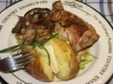 Máslové kuře s lilky na rozmarýnu recept