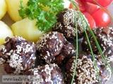 Hovězí kuličky v sezamu recept