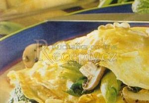 Zeleninové omelety se šunkou