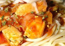 Těstoviny se smetanovou omáčkou a kuřecím masem recept ...
