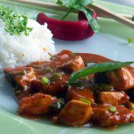 Thajská kuřecí směs s červenou kari pastou recept