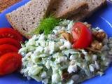 Okurkový salát s Cottage sýrem recept