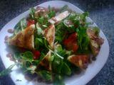 Polníčkový salát s grilovaným sýrem recept