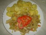 Pečená kapusta s kuřecím masem recept