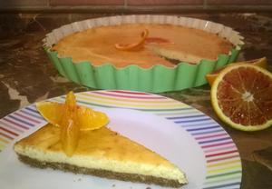 Cheesecake z červeného pomeranče