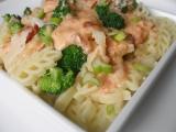 Těstoviny alla losos recept