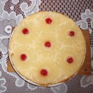 Ananasový koláč s višněmi recept