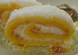 Roláda žlutobílá s třepacím krémem recept
