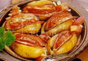 Zapékané plněné brambory