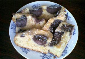 Rebarborový koláč s kakaovým tvarohem