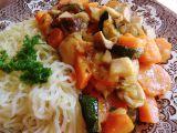 Houby s mrkví a cuketou recept