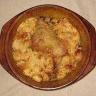 Pečené kuře s nádivkou se zelím recept