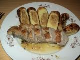 Kachní prso na tymiánu s bramborovými šiškami plněnými medovým ...