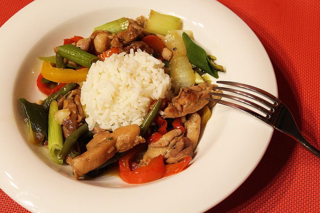 Restované kuře se zeleninou recept
