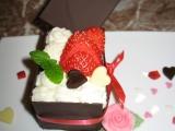 Valentýnský čokoládový dortík s jahodami pro 2 recept  TopRecepty ...