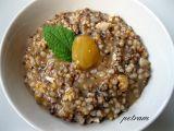 Čiroková kaše s ořechy a kompotem recept
