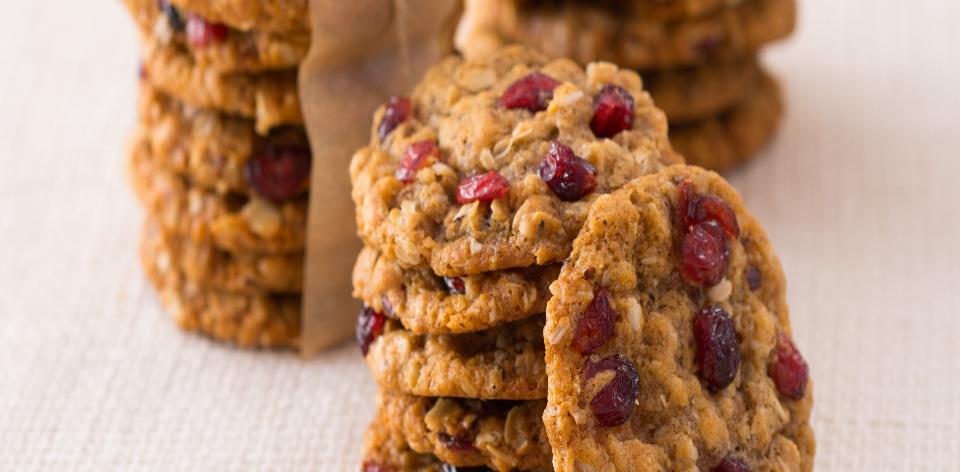 Ovesné sušenky s brusinkami