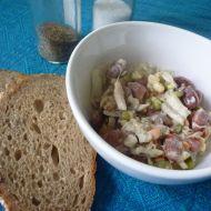 Fazolový salát s klíčky a tuňákem recept