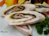 Dietní kuřecí roládka s přílohou a zeleninovým salátem recept ...