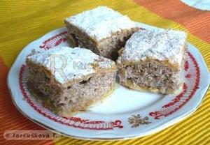 Jablkový koláč s ořechovým těstem