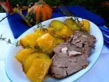 Pečená dýně s bramborami na tymiánu recept