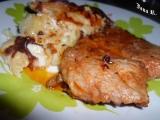 Česneková krkovice s gratinovanými bramborami recept ...