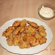 Zlaté kuře s parmezánem a česnekovou majonézou recept