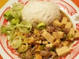 Ma-bo dófu (tofu s mletým masem) recept