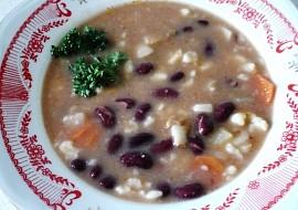 Fazolová polévka s haluškami- vyprošťovák recept