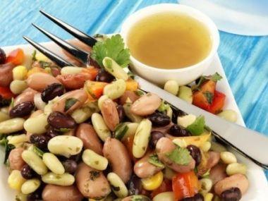 Recept Fazolový salát s klíčky