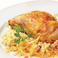 Kuře pečené na zelí recept