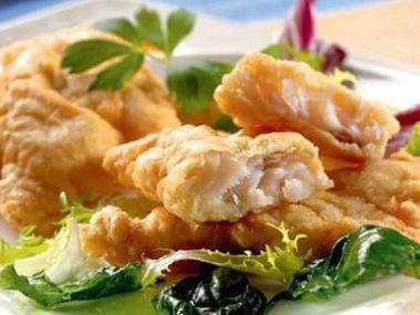 Rybí filé obalené v pivním těstíčku