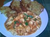 Kuřecí minutkový guláš s bramboráčky (jako čína) recept ...