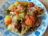 Zapečená zelenina s kuřecím masem recept