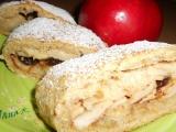 Škvarkový štrúdl s jablky recept