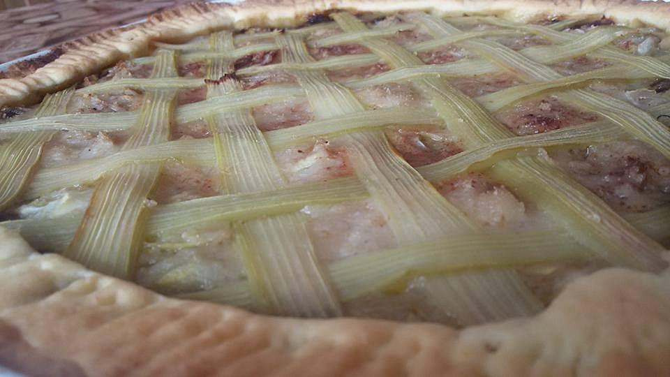 Cuketovo  rebarborový koláč recept