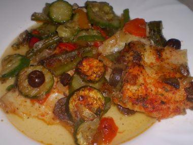 Pečená ryba se zeleninou