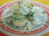 Bramborový salát s okurkou recept