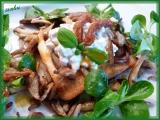 Toast s Cottage a houbovými škvarky recept