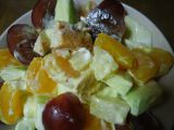 Ovocný salát s kuřecím masem recept