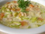 Zeleninovo  fazolová polévka s chutí křenu recept