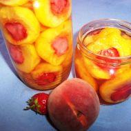 Broskvovo-jahodový kompot recept
