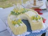 Svatební dort podkova recept