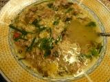 Polévka z kachních krků a králíčích polévkových dílů s ...